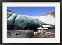 Framed Ice Cave in the Glacier of Schlatenkees