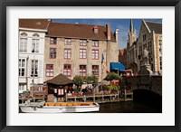 Framed Canal Cafe, Bruges, Belgium