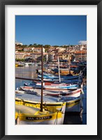 Framed Colorful Sailboats in Provence, France
