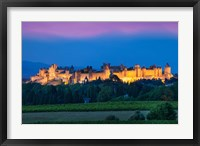 Framed La Cite Carcassonne, Fortified Medieval Town