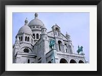 Framed Sacred Heart Cathedral in Montmartre, Paris
