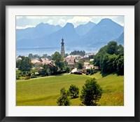 Framed Lake St Wolfgang, Austria
