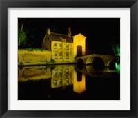 Framed Beguinage at Night, Bruges, Belgium