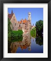 Framed Belfry and Rosary Quay, Belgium