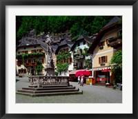 Framed Village of Hallstatt, Salzkammergut, Austria