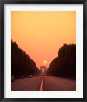 Framed Arc de Triomphe at Sunset, Paris, France
