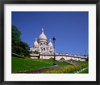 Framed Sacre Coeur, Montmartre, Paris, France