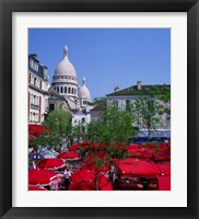 Framed Place Du Tertre, Montmartre, Paris, France