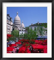 Framed Place Du Tertre, Montmartre, Paris, France