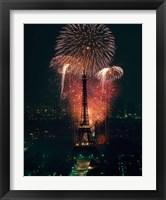 Framed Fireworks, Eiffel Tower, Paris, France