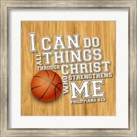 Framed I Can Do All Sports - Basketball