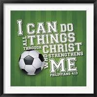 Framed I Can Do All Sports - Soccer