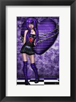 Framed Purple Princess