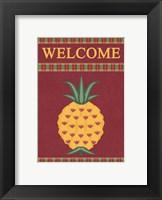 Framed Plaid Pineapple Banner