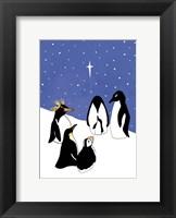 Framed 3 Wise Penguins