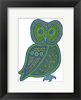 Framed Owl Green
