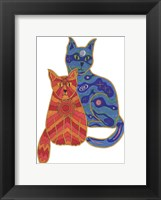 Framed Night and Day Cats