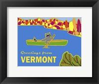 Framed Canoe Racoon