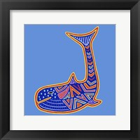 1 Whale Framed Print