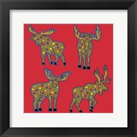 4 Moose Framed Print