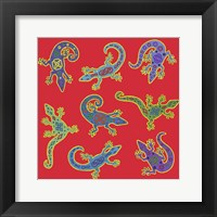 Framed 8 Lizards