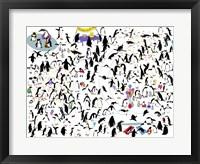 Framed Party Penguins