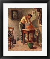 Framed Man Washing Himself, 1886