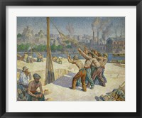 Framed Pile-drivers, Seine Quai, Billancourt, 1902-1903