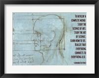 Framed To Develop a Complete Mind -Da Vinci Quote