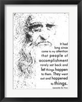 Framed People of Accomplishment -Da Vinci Quote