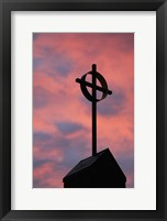 Framed Cross on Roof Top
