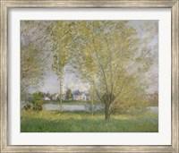 Framed Willows Of Vetheuil