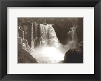 Framed Sepia North Shore Waterfall