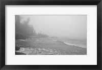 Framed Lake Superior Black And White 29