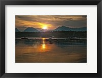 Framed Tetons Jackson lake