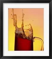 Framed Beer Mug And Splashing Foam