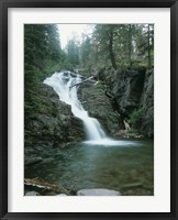 Framed Glacier National Park Waterfall 8