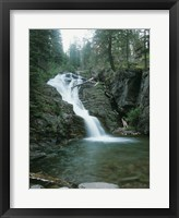 Framed Glacier National Park Waterfall 8