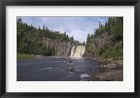 Framed North Shore Waterfall And Lake II