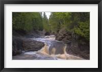 Framed North Shore Rushing Water