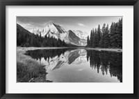 Framed Lake Reflecting White Mountains