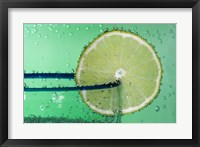 Framed Margarita Glass And Lemon Closeup I