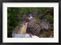 Framed North Shore Waterfall Rapids