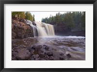 North Shore Rocky Waterfall View I Framed Print