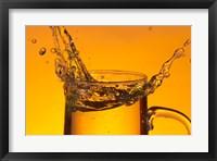 Glass Mug On Bar Splashing I Framed Print