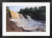 North Shore Rocky Waterfall View II Framed Print
