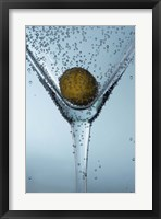 Olive In Martini Glass II Framed Print