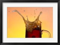 Framed Beer Mug And Splashing Bubble