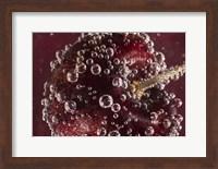 Framed Marroon Fruit Closeup With Raindrops II