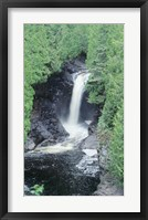 Framed Lake Superior Waterfall 11